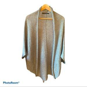 Sweater Zara Knit Cocoon Cardigan Gray
